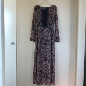 Petticoat Alley Floral Boho Sheer Dress Size S